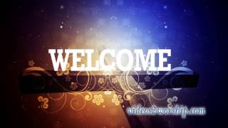 Welcome: Cross And Vine Background