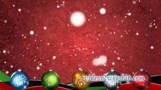Ornaments And Falling Snow Red Loop