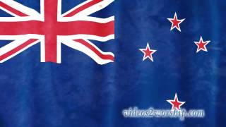New Zealand Waving Flag